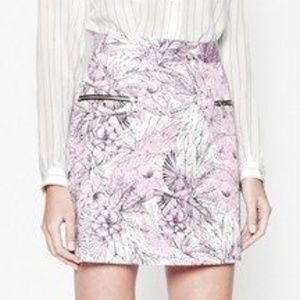 NWT French Connection Floral Mini Skirt Sz XS